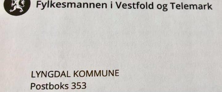 Lyngdal kommunes vedtak omgjort. Fylkesmannen avslår søknad om bygging på fraskilt tomt i LNFR-område
